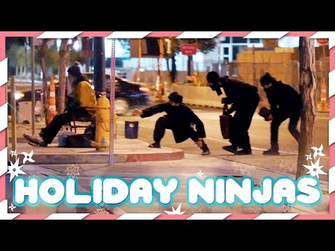 Holiday Ninjas Stealthily Give Gifts to the