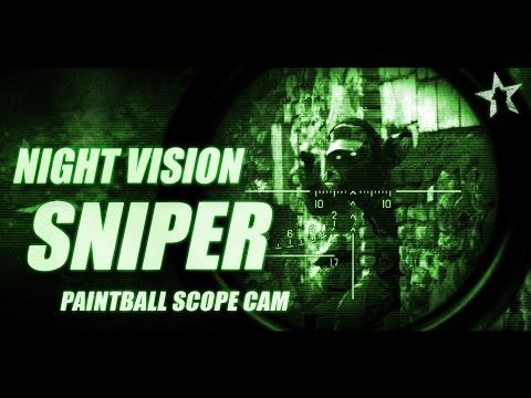 NIGHT VISION SNIPER: Paintball sniper in the night