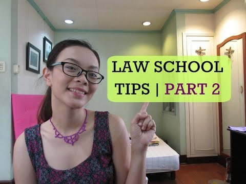 LAW SCHOOL TIPS | PART 2 | PHILIPPINES