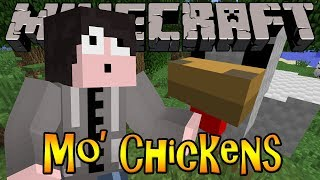 Minecraft Mod Review: Mo' Chickens - GIANT CHICKENS, LAY DIAMONDS, ORES&MORE!!