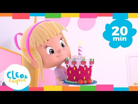 HAPPY BIRTHDAY and More Songs. Cleo & Cuquin. Nursery Rhymes I Songs For Kids (20 Minutes)