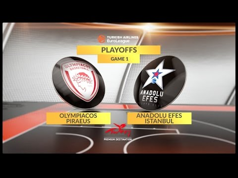 EuroLeague Highlights Playoffs 1: Olympiacos Piraeus 87-72 Anadolu Efes Istanbul
