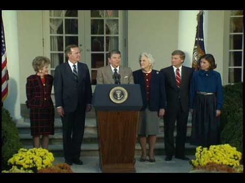 President Reagan's Remarks at a Ceremony for President-Elect George Bush on November 9, 1988