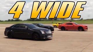 4 Wide - 1/2 Mile Drag Race by High Tech Corvette