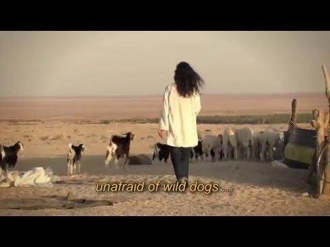 'Une berbère' : Poème calligramme de Nicole Coppey