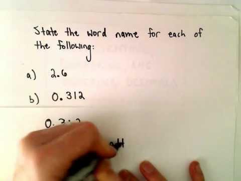 Word-Namen für Zahlen Einbeziehung Decimals