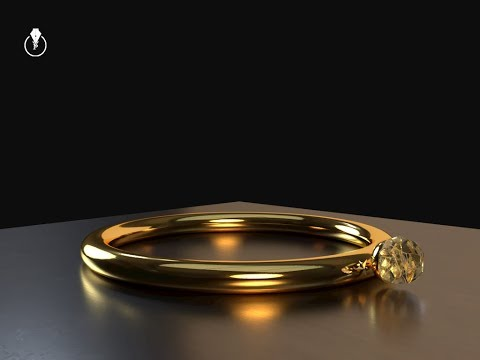 How to create a golden ring in Adobe Dimension CC
