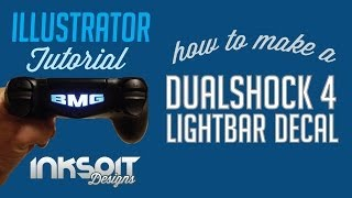 How to make a DualShock 4 lightbar decal - Ilustrator Tutorial
