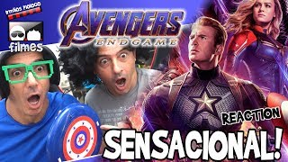 🎬 SENSACIONAL Vingadores Ultimato Trailer 3 Reaction - Irmãos Piologo Filmes