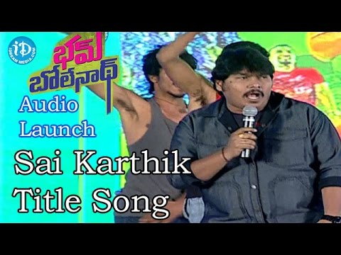 Video Sai Karthik Live Performance on Title Song || Bham Bolenath Audio Launch download in MP3, 3GP, MP4, WEBM, AVI, FLV January 2017
