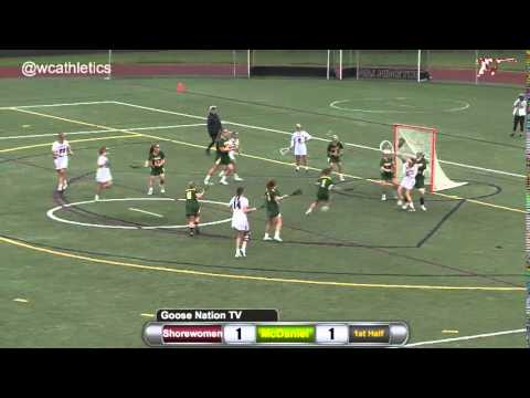 Shorewomen Lacrosse: Alli Dudley Scores After Contact