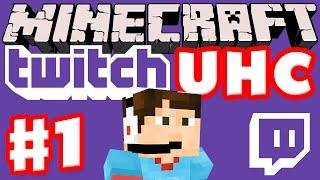 Minecraft Twitch UHC Part 1 (Ultra Hardcore Minecraft Live on Twitch with Facecam)