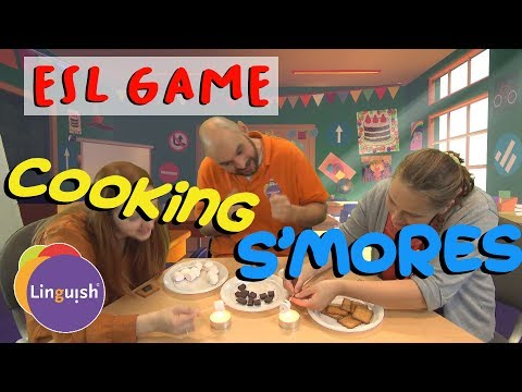 Linguish ESL Games // Cooking S'mores (in A Classroom!) // LT406