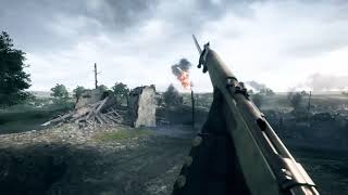 PS4 Gameplay Playing conquest on St Quentin Scar HUD Hidden Using medic class / Primary weapon : Cei-Rigotti Factory What...