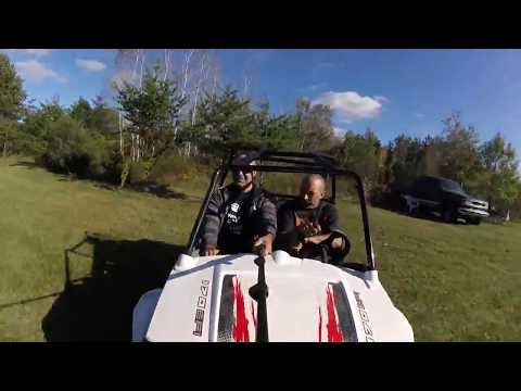 Side by side ride on custom made trails 108 acres - Gopro