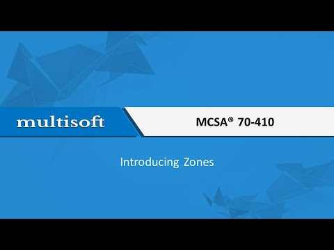 Introducing Zones at MCSA Training