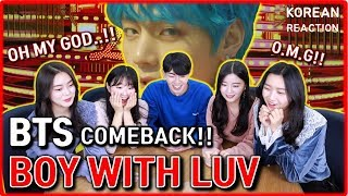 Video [REAKSI CEWEK CANTIK] BTS - Boy With Luv feat. Halsey' Official MV | kpop korean reaction MP3, 3GP, MP4, WEBM, AVI, FLV April 2019