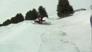 8. hesston jumping and landing hard 2010 polaris 800 dragon rmk