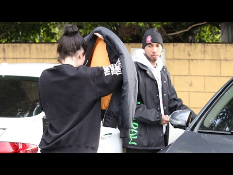 Kylie Jenner Tries To Hide Her Makeup-Free Face On Lunch Date With Tyga