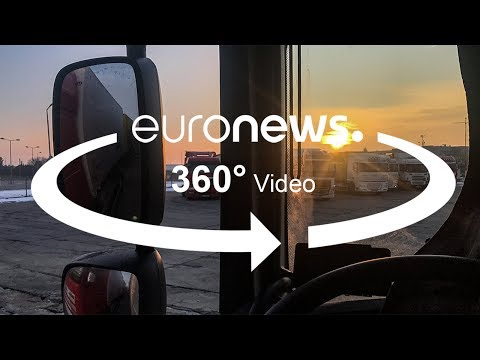 العرب اليوم - شاهد: معاناة سائقي الشاحنات الكبيرة