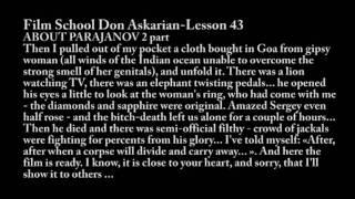 Lesson 43 _about Parajanov_ Film School Don Askarian_ English