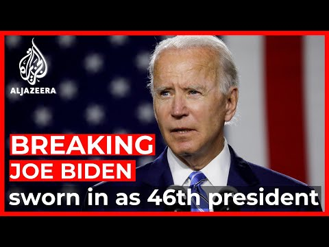The presidential inauguration of Joe Biden