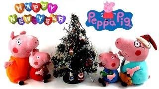 Мультик для детей: Свинка Пеппа украшает Новогоднюю елочку