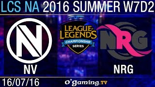EnVy vs NRG Esports - LCS NA Summer Split 2016 - W7D2