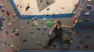 I set this bloc for the Project Circuit at Vauxwall, wanting it to include a few comp/parkour style moves. The climb doesn't have to be done this way, and it's probably easier to climb bits of it statically... But why wouldn't you want to do it this way!? Probably the most coordinated few seconds of my life :D