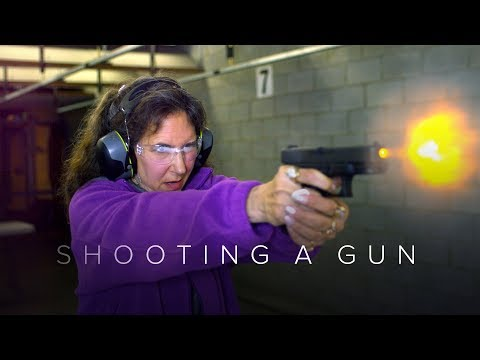 People Shoot a Gun for the First Time Captured in Slow Motion - First Takes