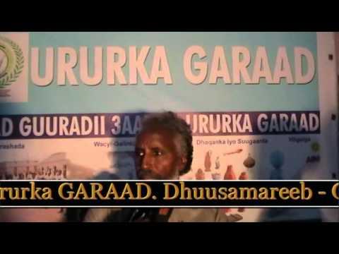 Qudbdii Dr. Ahmed Max'ed Mahdi Xafladii Sanad Guurada garaad 2014