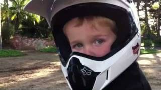 9. Three year old riding yamaha raptor 50