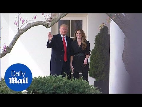 Trump says goodbye to Hope Hicks as she leaves White House - Daily Mail