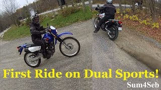 8. First ride on Suzuki DR650 and Dr200 test |¦| Sum4Seb Motorcycle Video