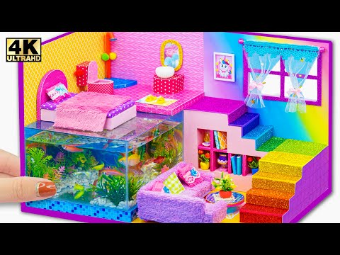 DIY Miniature Cardboard House #91 ❤️ How To Build Amazing Mini Mansion with Fish Tank Underground