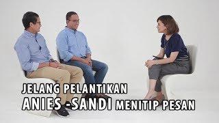 Video Jelang Pelantikan, Ini Pesan Anies-Sandi untuk Warga Jakarta (Part 1) MP3, 3GP, MP4, WEBM, AVI, FLV Oktober 2017