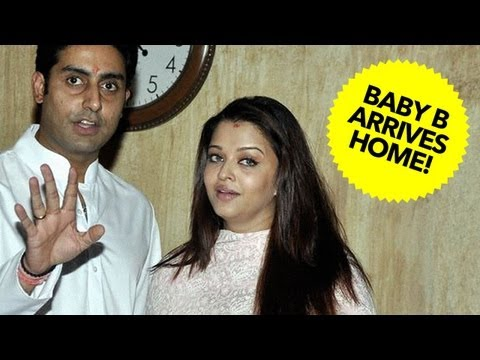 Abhishek Bachchan - Photos of this event: http://on.fb.me/tKjBlr Aishwarya Rai & Abhishek Bachchan brought their Baby B at home, along with the entire Bachchan family. On this j...