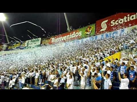Recibimiento en Liga de Campeones, Alianza (1-1) Red Bull's - La Ultra Blanca y Barra Brava 96 - Alianza