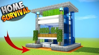 Minecraft: How to Build a Modern House Tutorial [How To Make] survival house 2017