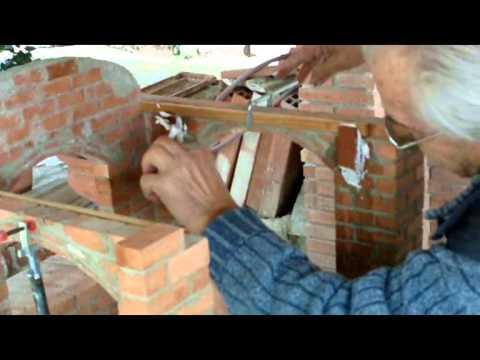 cimbra - Cómo hacer una cimbra arco elíptico en taller y montaje en la obra para la construcción de una bóveda escala 1:5 Video nº 93.