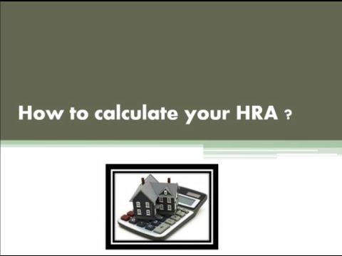 House Rent Allowance (HRA)- Part I