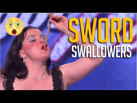 7 Craziest Most Dangerous Sword Swallowers on Got Talent EVER!