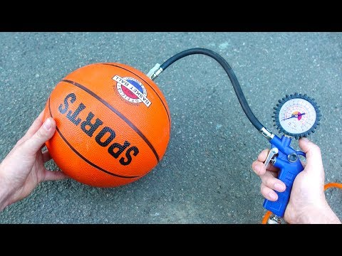Experiment: Air Compressor Vs Basketball