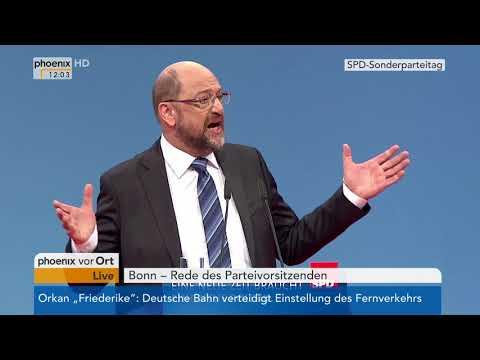 SPD (2018/01/21): Rede von Martin Schulz beim SPD-Bunde ...