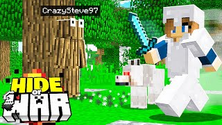being hunted in Minecraft survival! (Hide or WAR #6)