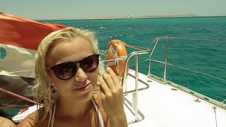 Top Model of the World at Catamaran on the Red Sea near El Gouna
