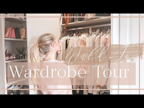WALK-IN WARDROBE TOUR // What's In My Closet // Fashion Mumblr (видео)