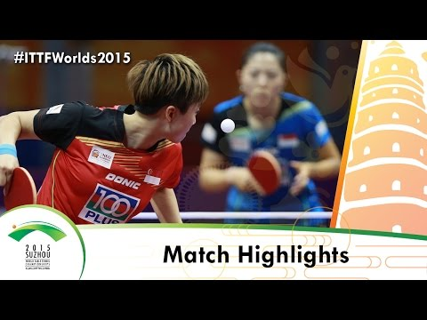 WTTC 2015 Highlights: YU Mengyu vs FENG Tianwei (R 16)