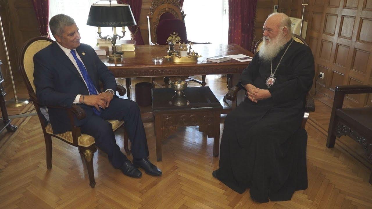 Συνάντηση του Αρχιεπισκόπου  Ιερωνύμου με τον Γ. Πατούλη
