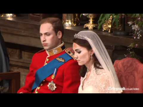 Royal wedding video: highlights of the ceremony of the wedding of Prince William to Kate Middleton